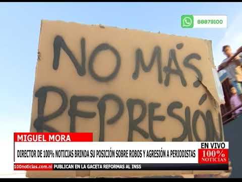 Juventud Sandinista roba y agrede a equipo de 100% Noticias