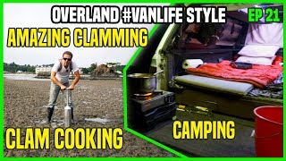 Amazing Oregon Clamming ! - Camping and Cooking Clams | EP21