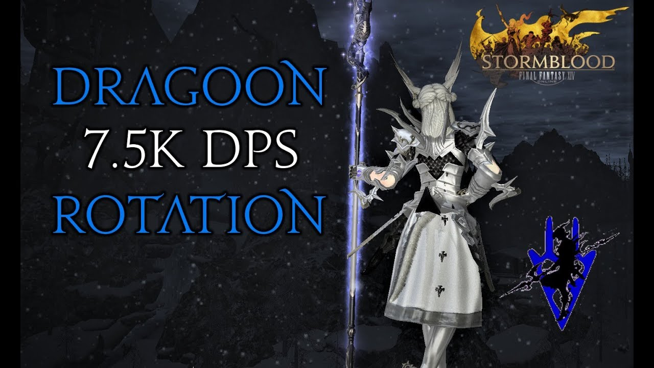 FFXIV - Dragoon/DRG 7 5k DPS rotation (Patch 4 58 - Ilvl 391)