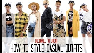 8 Ways to Style Casual Outfits - GOODWILL TO GUCCI   Jessica Pettway