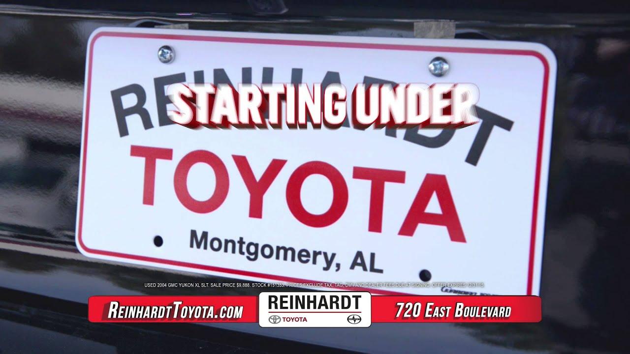 Reinhardt Toyota Used Car Super Center   Montgomery, AL   YouTube