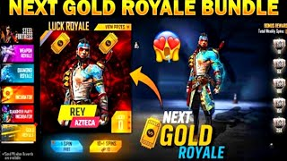 New Gold Royale Bundle Confirm Redeem Code Soon in free fire store gaming