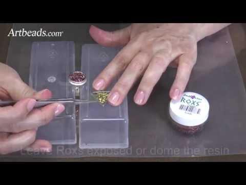Artbeads MiniVid - Faux Druzy Pendant with Glitter Roxs