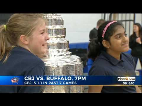 3.28.17 WCMH TV4 6PM Stanley Cup visits Marburn Academy