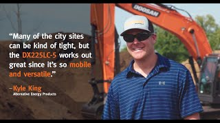 Doosan Excavator and Wheel Loader Work to Grind Trees in Nashville
