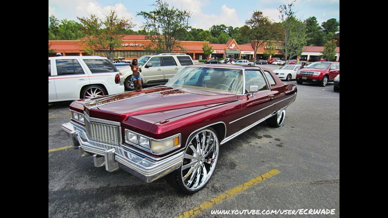 WETT 1975 Cadillac Coupe Deville on 8's - YouTube