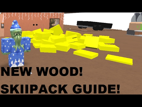 ROBLOX ~ Lumber Tycoon 2 ~ New Yellow Glow Wood and Skiipack