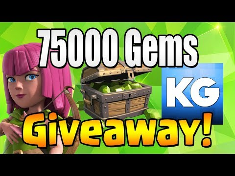 WINNER #7 | 75000 GEM Giveaway!  TH12 CELEBRATION | Clash of Clans