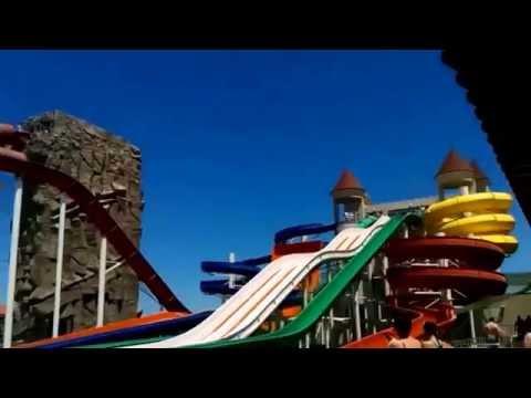 Баку #4  аквапарк Далга Катаемся на горках Новые  сюрпризы Baku Azerbaijan Dalga Beach Aquapark