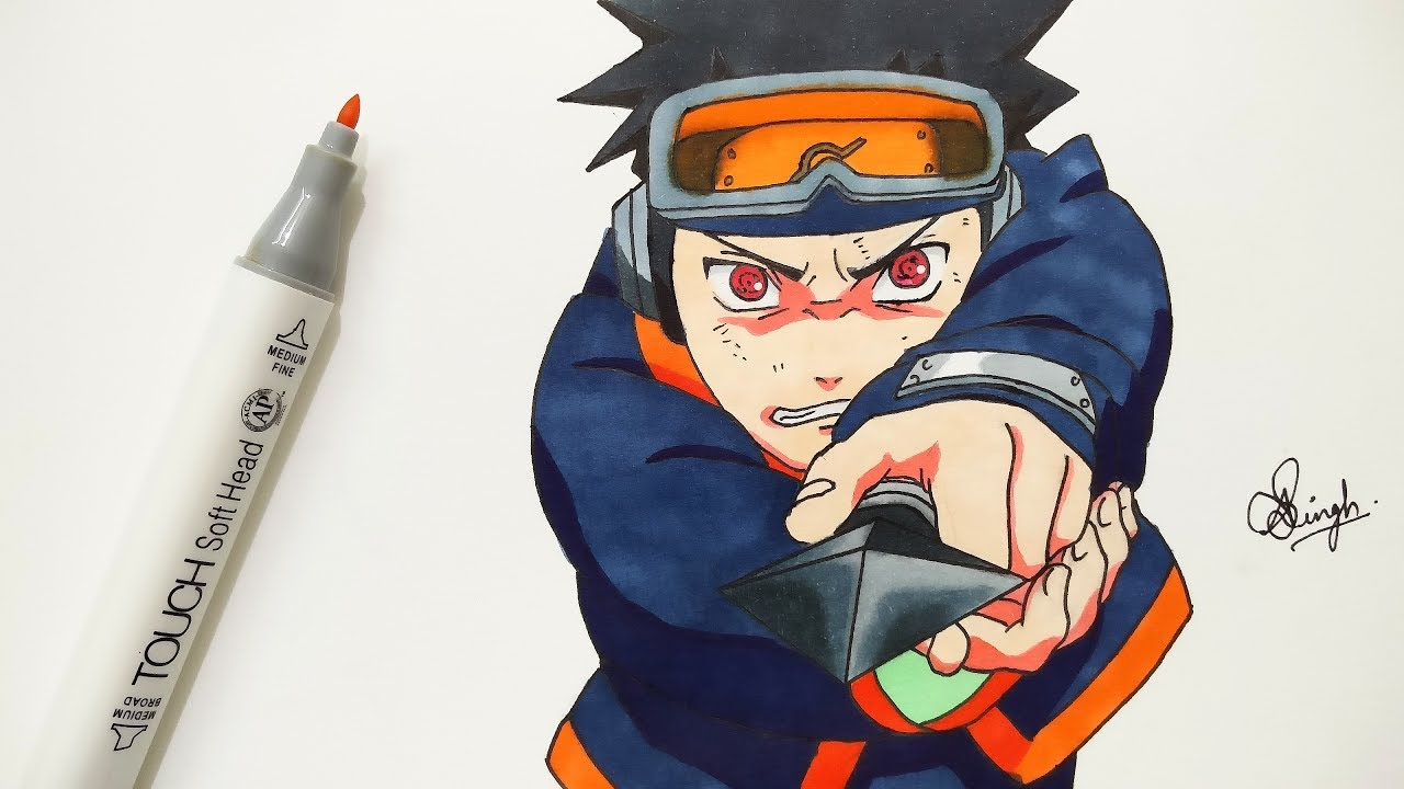 Drawing Kid Obito Naruto Shippuden Youtube