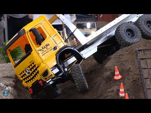 YELLOW MONSTER MB RC TRUCK 6x6 in 1/10 SCALE Intermodellbau 2018