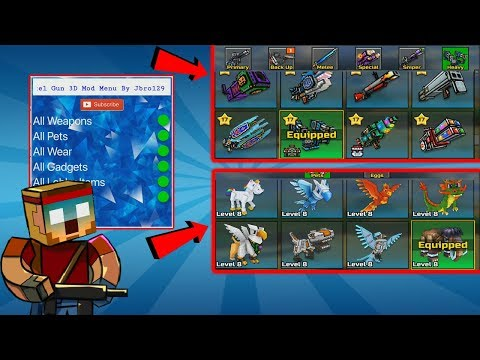 This Mod Gives You Everything!!! - Pixel Gun 3D All Bought Mod