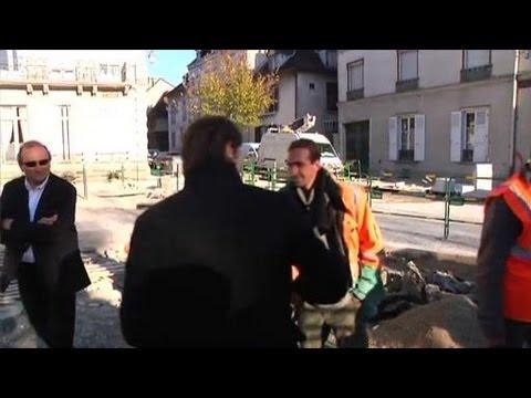 François Baroin ministre, maire et chef de chantier (Troyes)