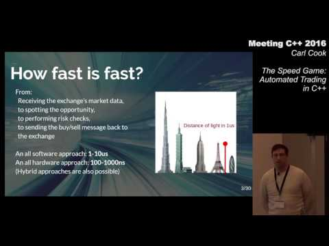 The Speed Game: Automated Trading Systems In C++ - Carl Cook - Meeting C++ 2016
