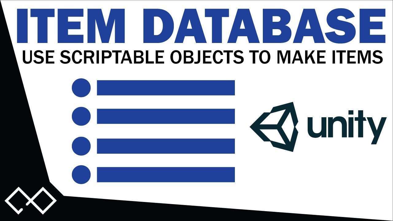 Item Database with Scriptable Objects Tutorial - Create an Item Database  with Drag and Drop in Unity