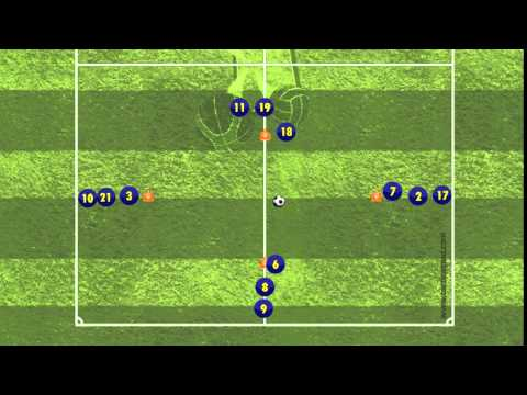 One-touch Passing Move Drill I - Spanish FA (RFEF)