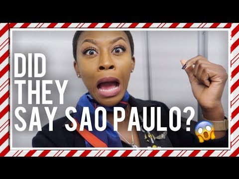"9 HOUR FLIGHT TO SAO PAULO | THE ""REAL"" LIFE OF A FLIGHT ATTENDANT