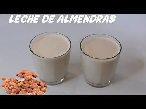 Como hacer leche de almendras sin azucar saludable