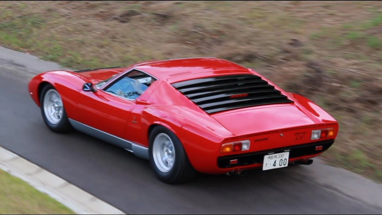 Lamborghini Miura P400 Sv Loud Exhaust Sound Youtube