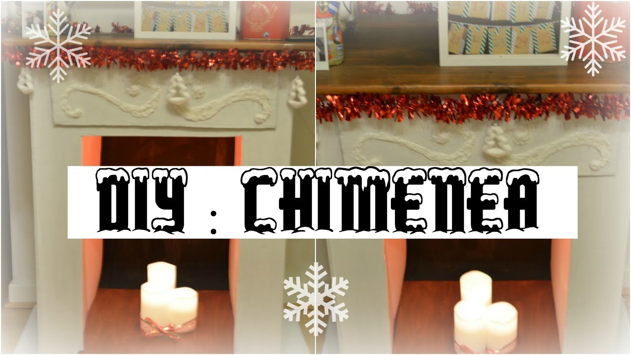 Diy chimenea de cart n f cil manualidades con cart n for Como hacer chimeneas decorativas