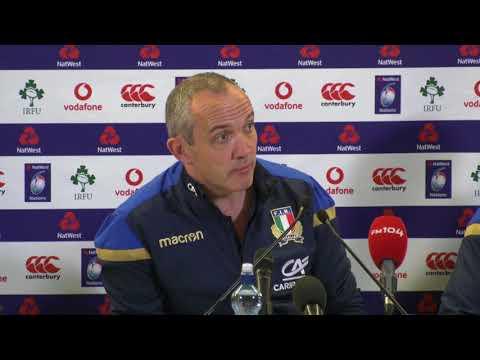 Irlanda VS Italia: conferenza post-partita