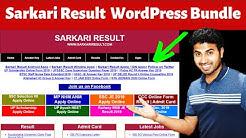 How to Use Sarkari Result WordPress Theme Bundle to Create Sarkari Result Website? Okey Ravi