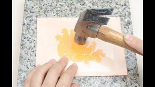 [친절한 가죽공예] 무늬 넣고 염색하기 기법 1. 수지…