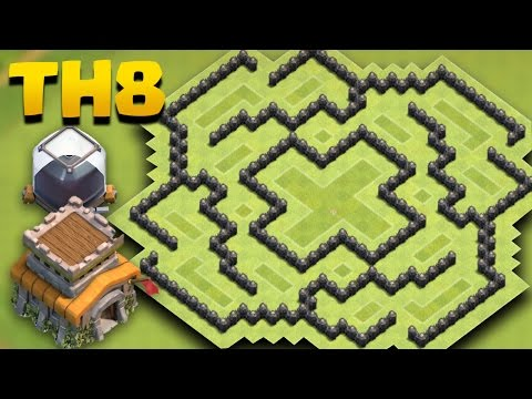 Town Hall 8 (TH8) Dark Elixir Farming Base | COC TH 8 D/e Protection Base + Replays