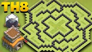 Town Hall 8 (TH8) Dark Elixir Farming Base | COC TH 8 D/e Protection Base + Replays