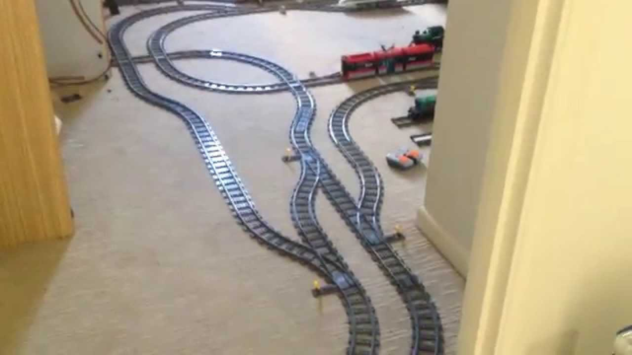 small resolution of long large lego train set going through the house and into the garden walk through youtube