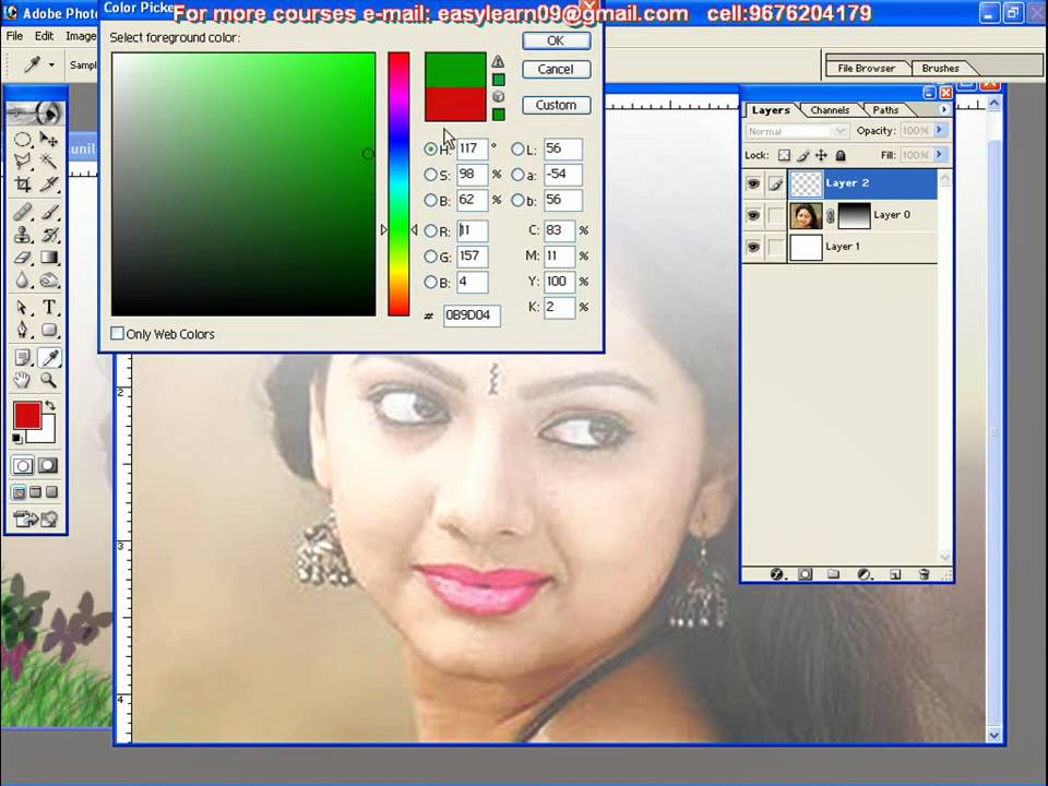 Telugu Dtp Photoshop And Web Design Tutorial 09676204179 Youtube