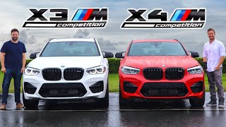 2020 BMW X3M Competition vs X4M Competition // The New M Engine - Track And Road Test