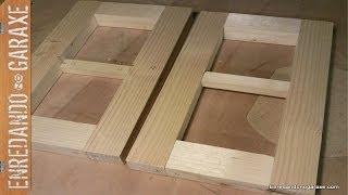 Vitrina Colgante. Display Cabinet. Fabricando Estructura De Los Laterales. Sides Structure