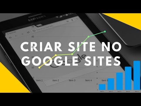 como criar um site no google sites 2018