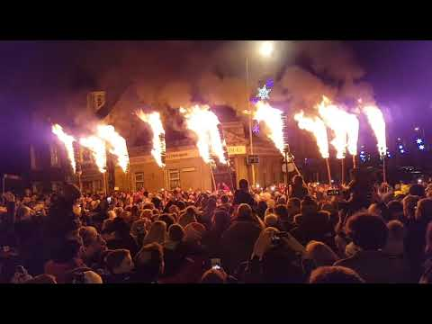2017/2018 New Year Fireworks and Flambeaux, Comrie, Perthshire