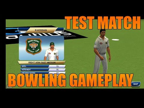 Real Cricket 18 Test Match Bowling Gameplay - Day 1 - 1st Bangladesh Vs Zimbabwe Full Highlights - 동영상
