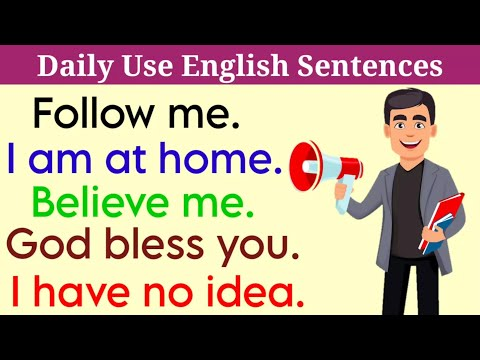 Daily Life Phrases in English।। English Sentences Practice।।By: General Classes