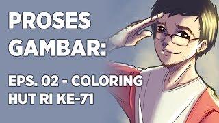 iPad Pro & Procreate: Kemerdekaan Indonesia | Eps. 02: Coloring