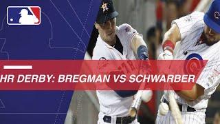 In the first round of the HR Derby, Astros third baseman Alex Bregm...