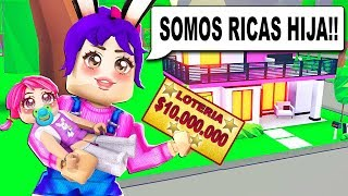 WE WERE POBRES AND WE TAKE THE LOTTERY!! - ADOPT ME! - ROBLOX