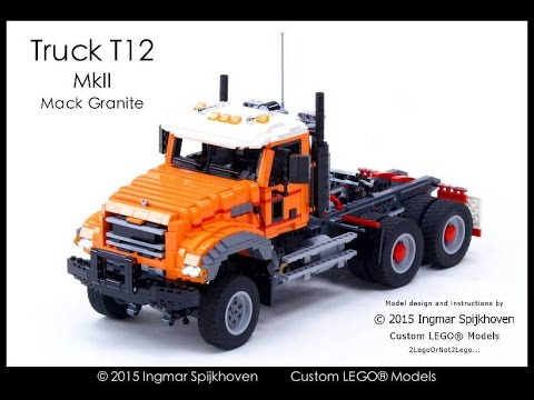 Truck T12 Mkii Mack Granite Build With Lego Youtube
