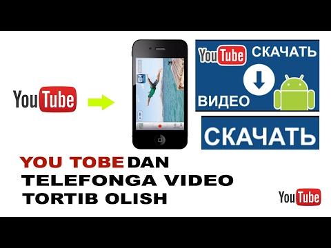 You tobedan video tortib olish / видео скачать YouTube