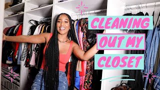 CLEANING OUT MY CLOSET + GIVING EVERYTHING TO YOU