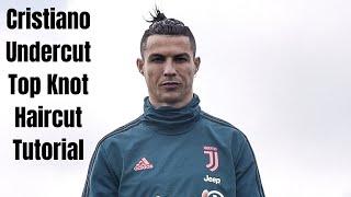 Cristiano Ronaldo Undercut Top Knot Haircut - TheSalonGuy