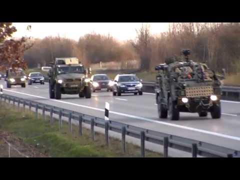 US Militärconvoi rollt durch Sachsen-Anhalt