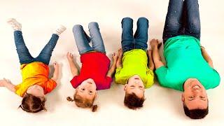 Canzone per bambini Canzone Colorata con Papà e Cinque Bambini
