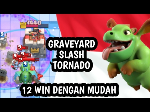 12WIN GC SANGAT MUDAH GY SLASH DECK | NEW DESIGN FULL TIPS & TEXT - CLASH ROYALE INDONESIA