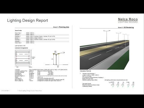 How To Generate A Road Lighting Design Calculation Report In Dialux Evo