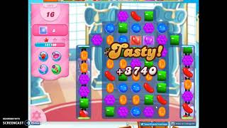Candy Crush Level 1015 Audio Talkthrough, 2 Stars 0 Boosters