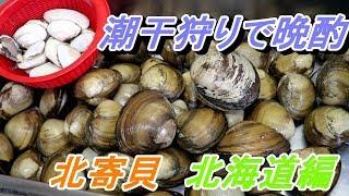 北海道の北寄貝を潮干狩りに行った際の動画です。 2018年7月上旬の北海...
